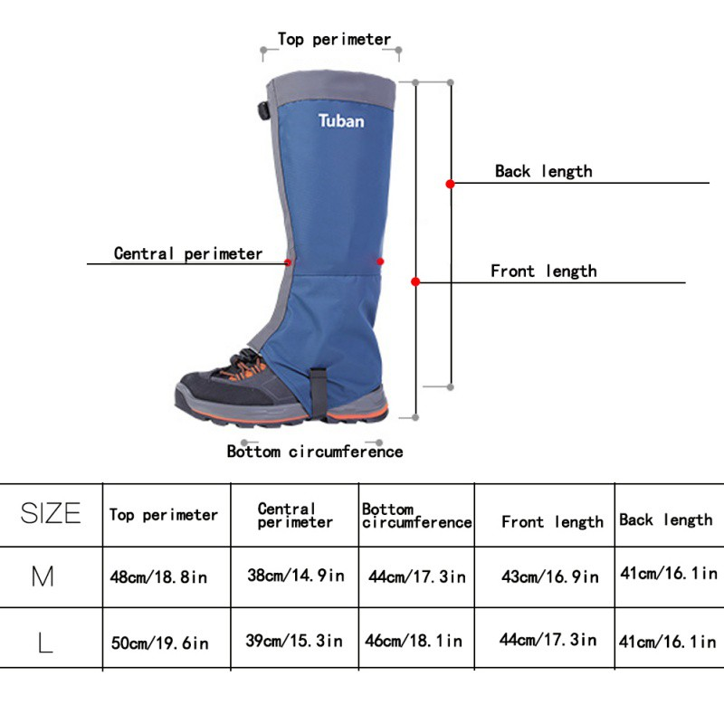 Outdoor Hiking Hunting Boot Gaiters Waterproof Snow High Leg Warmer Shoes Cover